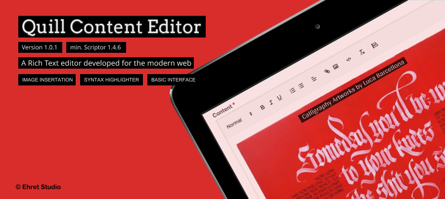 Quill Content Editor image
